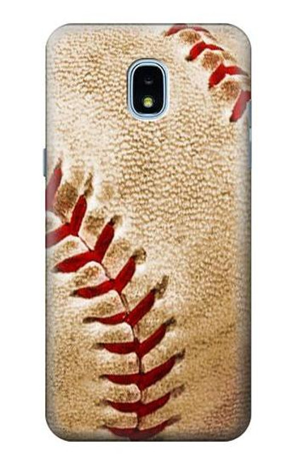 S0064 野球 ベースボール Baseball Samsung Galaxy J3 (2018) バックケース、フリップケース・カバー
