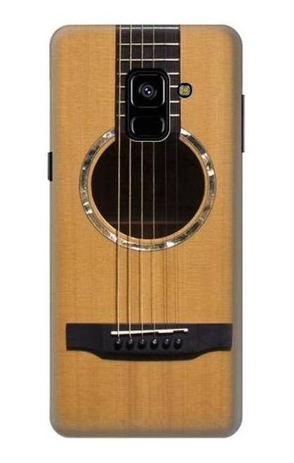 S0057 アコースティックギター Acoustic Guitar Samsung Galaxy A8 (2018) バックケース、フリップケース・カバー