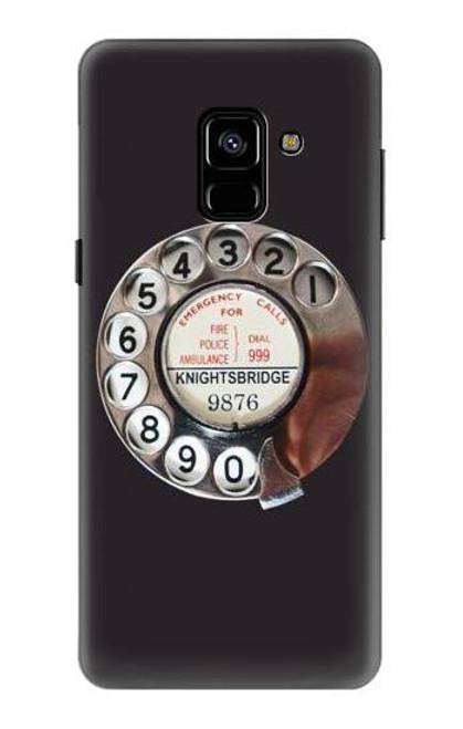 S0059 レトロなダイヤル式の電話ダイヤル Retro Rotary Phone Dial On Samsung Galaxy A8 (2018) バックケース、フリップケース・カバー