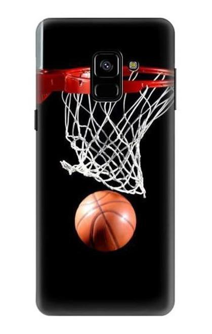 S0066 バスケットボール Basketball Samsung Galaxy A8 (2018) バックケース、フリップケース・カバー
