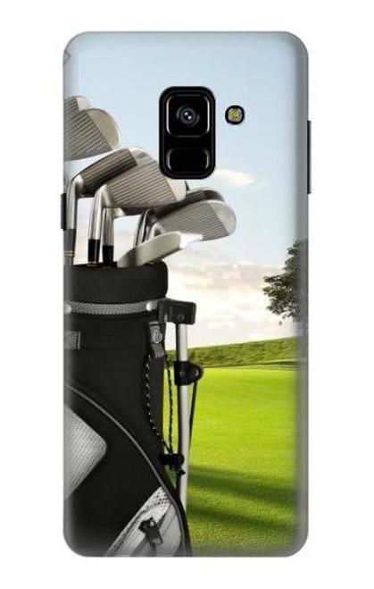 S0067 ゴルフ Golf Samsung Galaxy A8 (2018) バックケース、フリップケース・カバー