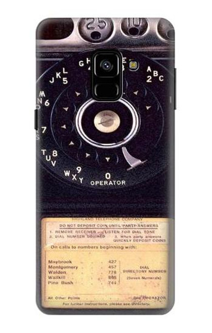 S0086 ヴィンテージ 公衆電話 Payphone Vintage Samsung Galaxy A8 (2018) バックケース、フリップケース・カバー