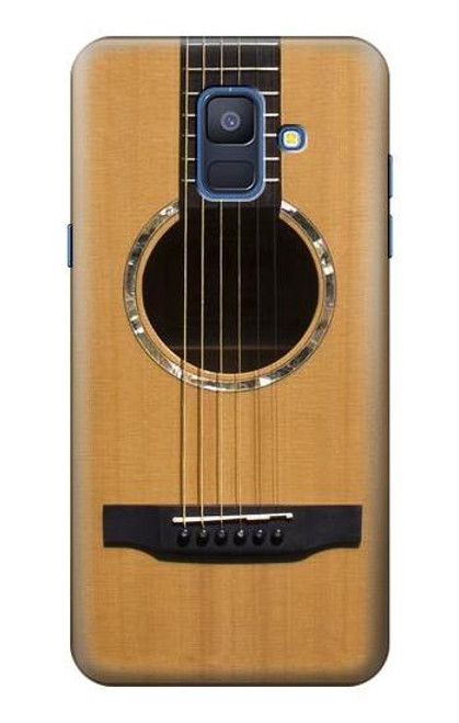 S0057 アコースティックギター Acoustic Guitar Samsung Galaxy A6 (2018) バックケース、フリップケース・カバー