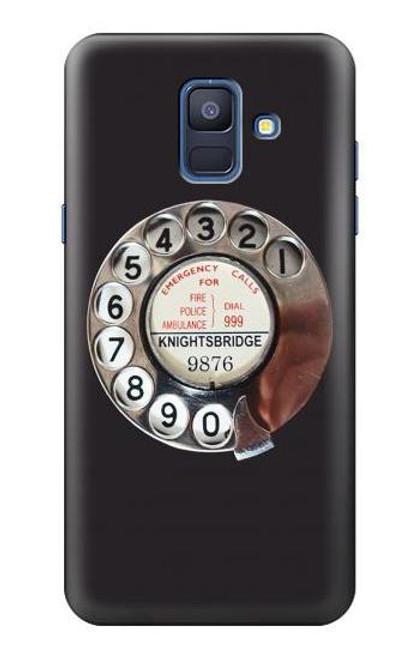 S0059 レトロなダイヤル式の電話ダイヤル Retro Rotary Phone Dial On Samsung Galaxy A6 (2018) バックケース、フリップケース・カバー