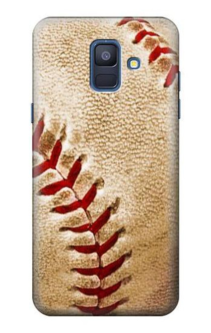 S0064 野球 ベースボール Baseball Samsung Galaxy A6 (2018) バックケース、フリップケース・カバー