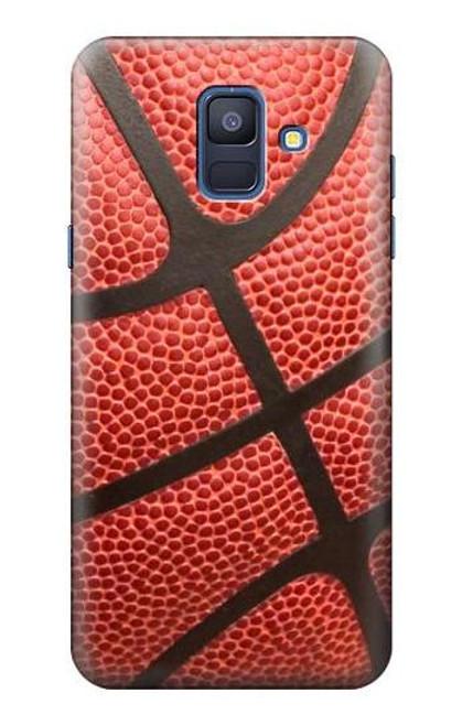 S0065 バスケットボール Basketball Samsung Galaxy A6 (2018) バックケース、フリップケース・カバー