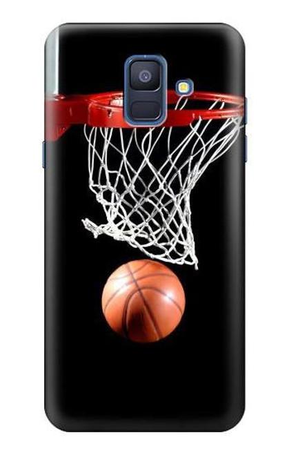S0066 バスケットボール Basketball Samsung Galaxy A6 (2018) バックケース、フリップケース・カバー