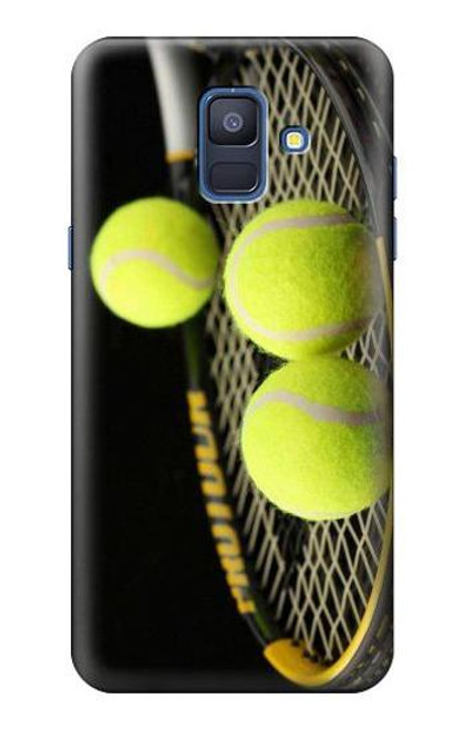 S0072 テニス Tennis Samsung Galaxy A6 (2018) バックケース、フリップケース・カバー