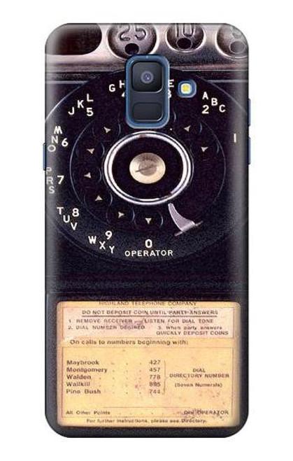 S0086 ヴィンテージ 公衆電話 Payphone Vintage Samsung Galaxy A6 (2018) バックケース、フリップケース・カバー