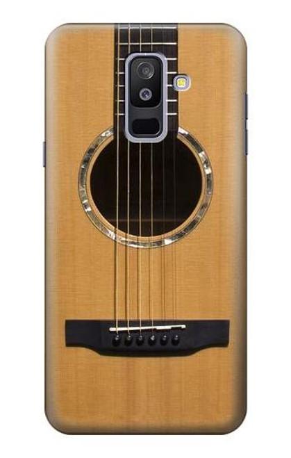 S0057 アコースティックギター Acoustic Guitar Samsung Galaxy A6+ (2018), J8 Plus 2018, A6 Plus 2018  バックケース、フリップケース・カバー