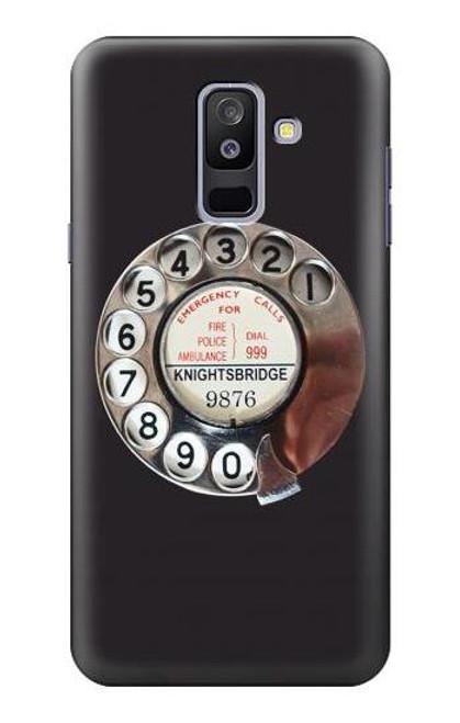 S0059 レトロなダイヤル式の電話ダイヤル Retro Rotary Phone Dial On Samsung Galaxy A6+ (2018), J8 Plus 2018, A6 Plus 2018  バックケース、フリップケース・カバー