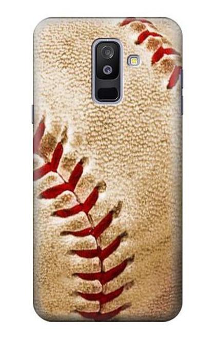 S0064 野球 ベースボール Baseball Samsung Galaxy A6+ (2018), J8 Plus 2018, A6 Plus 2018  バックケース、フリップケース・カバー