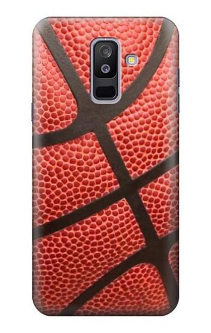 S0065 バスケットボール Basketball Samsung Galaxy A6+ (2018), J8 Plus 2018, A6 Plus 2018  バックケース、フリップケース・カバー