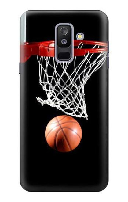S0066 バスケットボール Basketball Samsung Galaxy A6+ (2018), J8 Plus 2018, A6 Plus 2018  バックケース、フリップケース・カバー