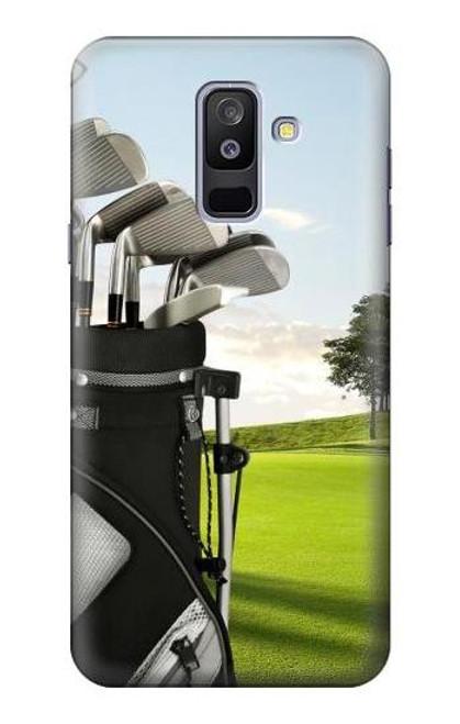 S0067 ゴルフ Golf Samsung Galaxy A6+ (2018), J8 Plus 2018, A6 Plus 2018  バックケース、フリップケース・カバー