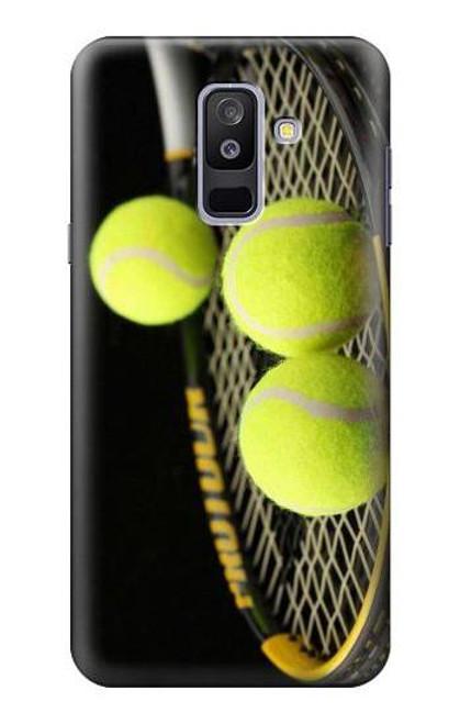 S0072 テニス Tennis Samsung Galaxy A6+ (2018), J8 Plus 2018, A6 Plus 2018  バックケース、フリップケース・カバー