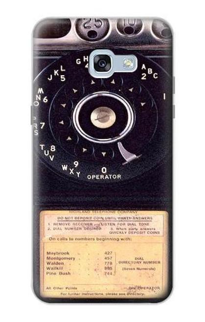 S0086 ヴィンテージ 公衆電話 Payphone Vintage Samsung Galaxy A5 (2017) バックケース、フリップケース・カバー