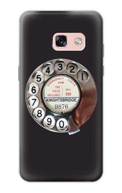 S0059 レトロなダイヤル式の電話ダイヤル Retro Rotary Phone Dial On Samsung Galaxy A3 (2017) バックケース、フリップケース・カバー