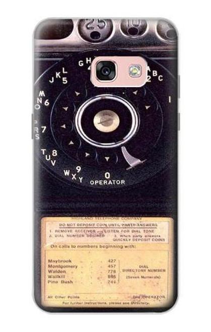 S0086 ヴィンテージ 公衆電話 Payphone Vintage Samsung Galaxy A3 (2017) バックケース、フリップケース・カバー