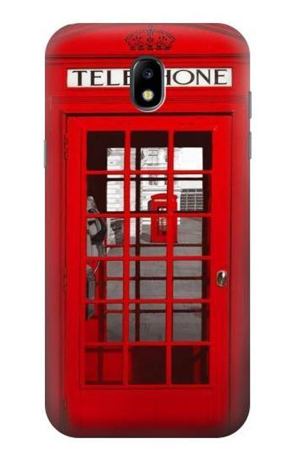S0058 ロンドン〔イギリス〕の赤い電話ボックス Classic British Red Telephone Box Samsung Galaxy J5 (2017) EU Version バックケース、フリップケース・カバー