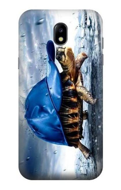 S0084 雨でかめ Turtle in the Rain Samsung Galaxy J5 (2017) EU Version バックケース、フリップケース・カバー