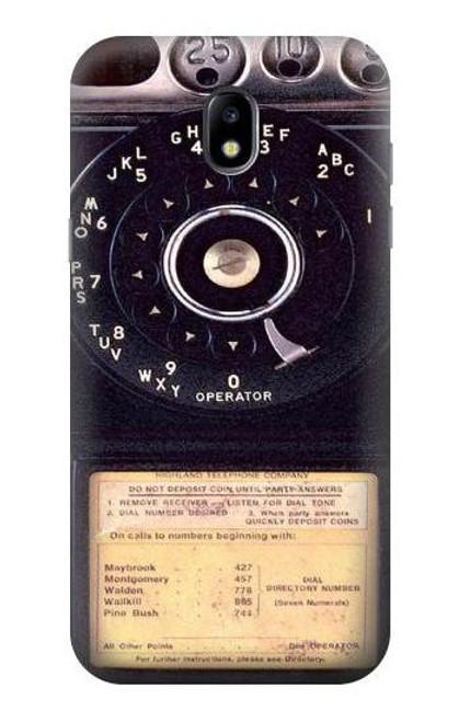 S0086 ヴィンテージ 公衆電話 Payphone Vintage Samsung Galaxy J5 (2017) EU Version バックケース、フリップケース・カバー