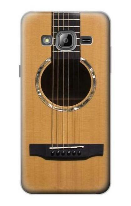S0057 アコースティックギター Acoustic Guitar Samsung Galaxy J3 (2016) バックケース、フリップケース・カバー