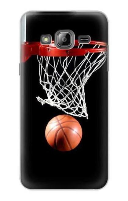S0066 バスケットボール Basketball Samsung Galaxy J3 (2016) バックケース、フリップケース・カバー
