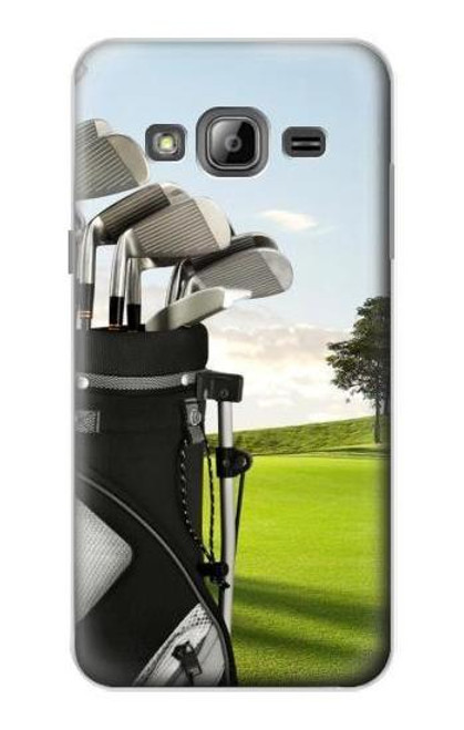 S0067 ゴルフ Golf Samsung Galaxy J3 (2016) バックケース、フリップケース・カバー