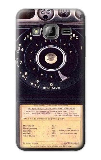 S0086 ヴィンテージ 公衆電話 Payphone Vintage Samsung Galaxy J3 (2016) バックケース、フリップケース・カバー