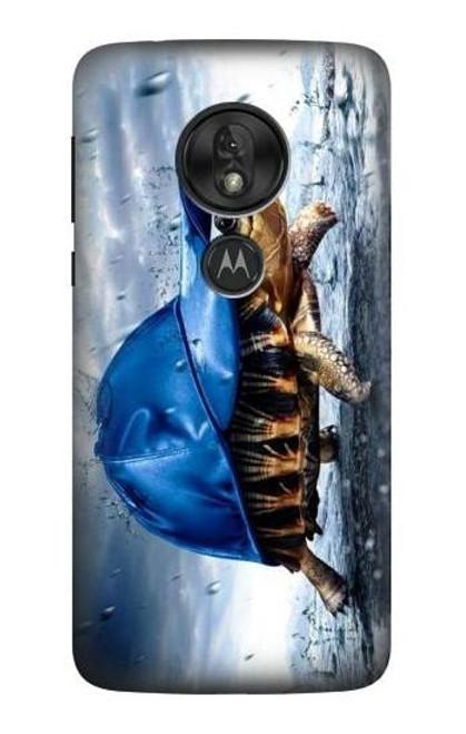 S0084 雨でかめ Turtle in the Rain Motorola Moto G7 Play バックケース、フリップケース・カバー