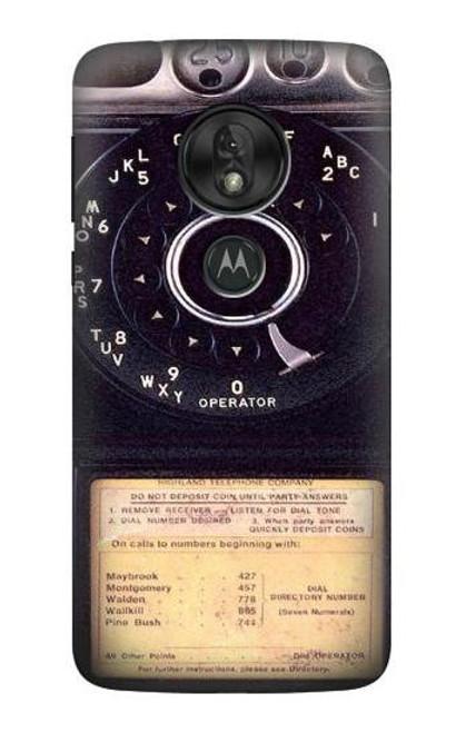 S0086 ヴィンテージ 公衆電話 Payphone Vintage Motorola Moto G7 Play バックケース、フリップケース・カバー