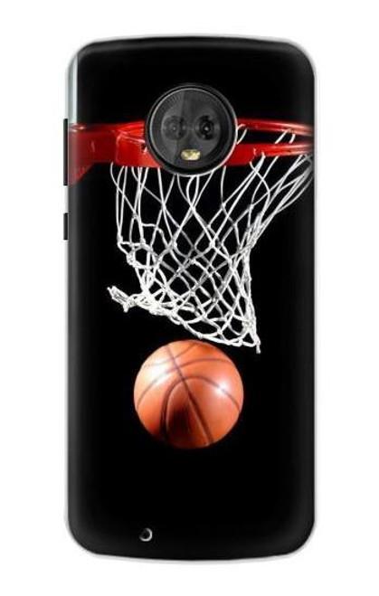 S0066 バスケットボール Basketball Motorola Moto G6 バックケース、フリップケース・カバー