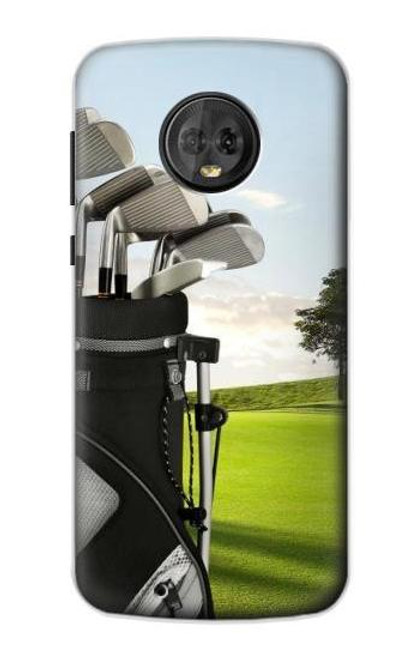 S0067 ゴルフ Golf Motorola Moto G6 バックケース、フリップケース・カバー