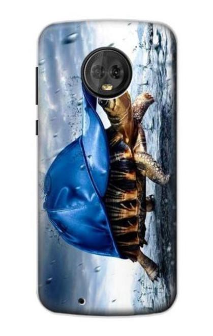 S0084 雨でかめ Turtle in the Rain Motorola Moto G6 バックケース、フリップケース・カバー