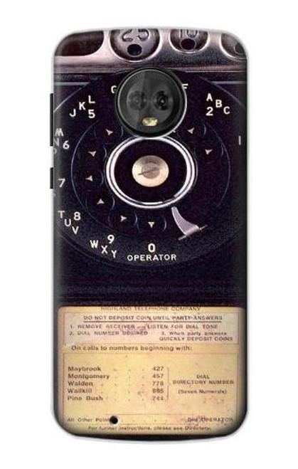 S0086 ヴィンテージ 公衆電話 Payphone Vintage Motorola Moto G6 バックケース、フリップケース・カバー