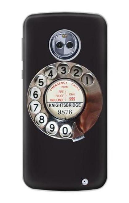 S0059 レトロなダイヤル式の電話ダイヤル Retro Rotary Phone Dial On Motorola Moto X4 バックケース、フリップケース・カバー