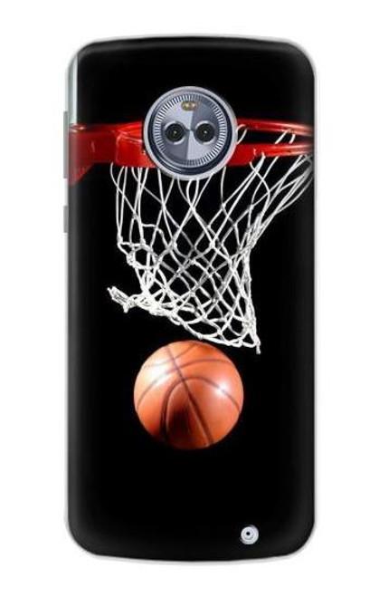 S0066 バスケットボール Basketball Motorola Moto X4 バックケース、フリップケース・カバー