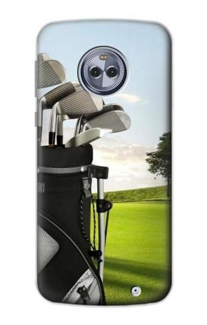 S0067 ゴルフ Golf Motorola Moto X4 バックケース、フリップケース・カバー