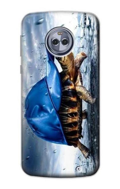 S0084 雨でかめ Turtle in the Rain Motorola Moto X4 バックケース、フリップケース・カバー