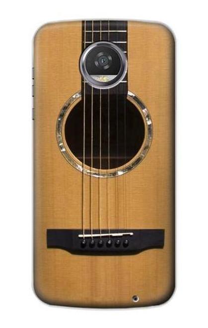 S0057 アコースティックギター Acoustic Guitar Motorola Moto Z2 Play, Z2 Force バックケース、フリップケース・カバー