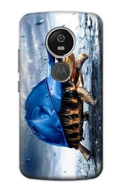 S0084 雨でかめ Turtle in the Rain Motorola Moto E5 Plus バックケース、フリップケース・カバー