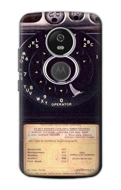 S0086 ヴィンテージ 公衆電話 Payphone Vintage Motorola Moto E5 Plus バックケース、フリップケース・カバー