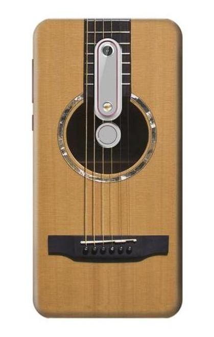 S0057 アコースティックギター Acoustic Guitar Nokia 6.1, Nokia 6 2018 バックケース、フリップケース・カバー