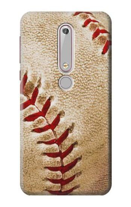 S0064 野球 ベースボール Baseball Nokia 6.1, Nokia 6 2018 バックケース、フリップケース・カバー