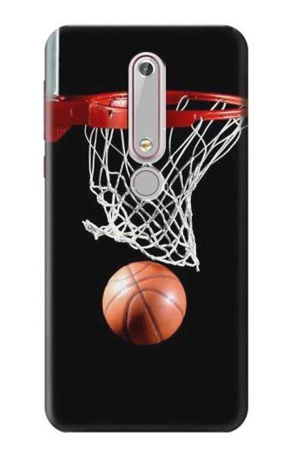 S0066 バスケットボール Basketball Nokia 6.1, Nokia 6 2018 バックケース、フリップケース・カバー