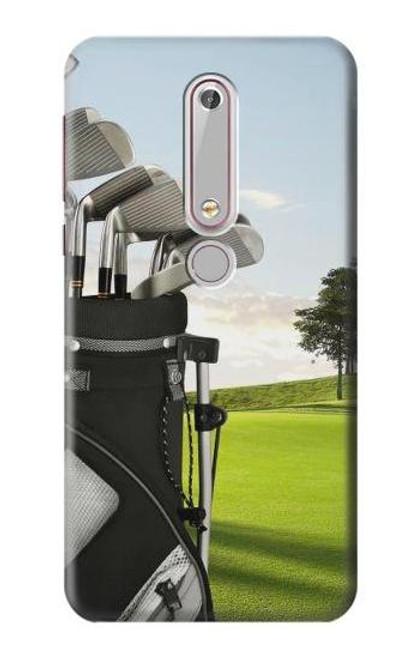 S0067 ゴルフ Golf Nokia 6.1, Nokia 6 2018 バックケース、フリップケース・カバー