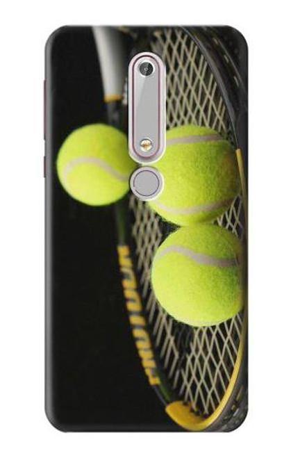 S0072 テニス Tennis Nokia 6.1, Nokia 6 2018 バックケース、フリップケース・カバー