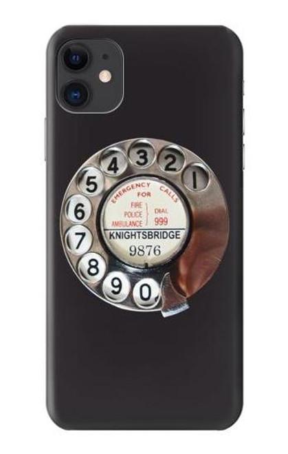 S0059 レトロなダイヤル式の電話ダイヤル Retro Rotary Phone Dial On iPhone 11 バックケース、フリップケース・カバー