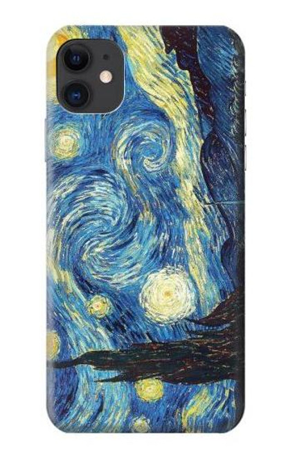 S0213 フィンセント・ファン・ゴッホ 星月夜 Van Gogh Starry Nights iPhone 11 バックケース、フリップケース・カバー